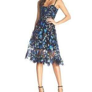 Uma Floral Embroidered Lace Dress